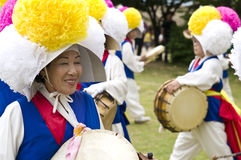 South Korean folklore. Event held in traditional village of Nagan royalty free stock photography