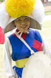 South Korean folklore. Event held in traditional village of Nagan royalty free stock image