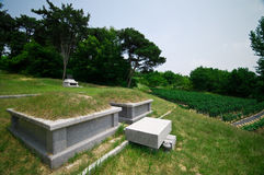 South Korean graves Royalty Free Stock Images