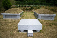 South Korean graves Stock Photo