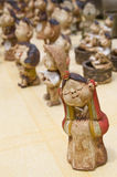 South Korean handicraft. Clay dolls made in Nagan village Royalty Free Stock Images