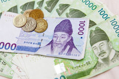 South Korean money  Stock Images