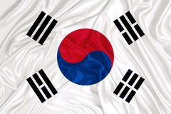 South Korean Flag. South Korean National Flag on textile stock photography