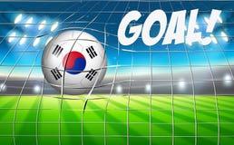 A South Korean soccer ball flag Royalty Free Illustration