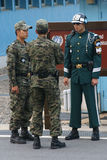South Korean soldiers on the border at Panmunjom Stock Photo