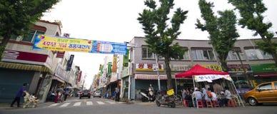 South Korean street Royalty Free Stock Images