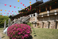 South korean temple Royalty Free Stock Images