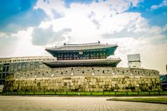 South Korean Wall and Fort complex royalty free stock images
