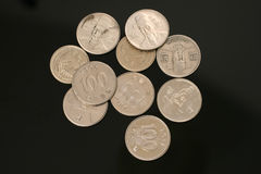 South Korean Won Coins Royalty Free Stock Photography