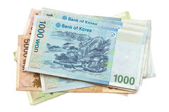 South Korean Won currency Royalty Free Stock Photos