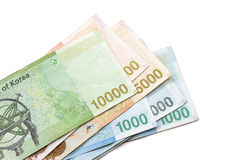 South Korean Won currency Royalty Free Stock Photo