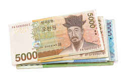 South Korean Won currency Stock Image