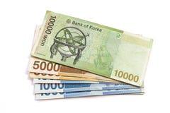 South Korean Won currency Royalty Free Stock Photos