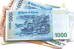 South Korean Won currency Royalty Free Stock Images