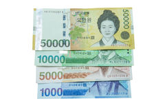 South Korean Won currency Royalty Free Stock Photography