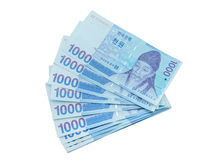 South Korean Won currency Stock Photos