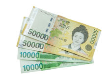 South Korean Won currency Royalty Free Stock Image