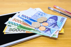 South Korean won currency and finance business. Stock Photography