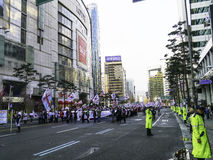 South Koreans rally to support Park Geun-Hye Stock Image