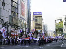 South Koreans rally to support Park Geun-Hye Stock Photo