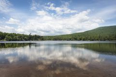 South Lake in the Catskill Mountains. The famous South Lake a subject of many paintings, in the eastern Catskill Mountains of New York royalty free stock images