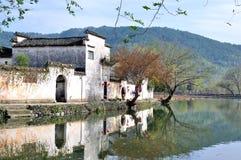 South Lake in Hong village Royalty Free Stock Image