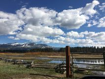 South Lake Tahoe. Meadows and clouds Royalty Free Stock Photo