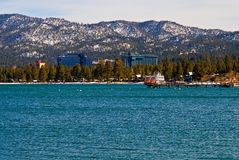 South Lake Tahoe in winter. With lots of snow in the mountain Royalty Free Stock Photo