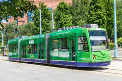 South Lake Union Line Tram at Fairview Stop in Seattle Stock Image