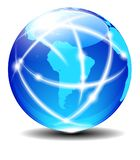 South Latin America Global Communication World Planet Data Royalty Free Stock Photography