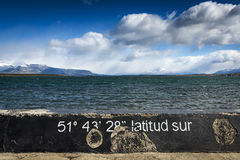 South Latitude. A view of the seaside from Puerto Natales in Chile Stock Photos