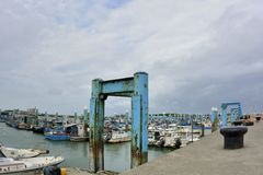 South Liao fishing port in the Hsinchu,Taiwan. Royalty Free Stock Images