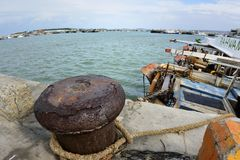 South Liao fishing port in the Hsinchu,Taiwan. Royalty Free Stock Image