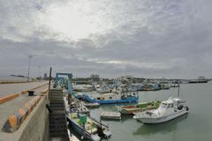 South Liao fishing port in the Hsinchu,Taiwan. Royalty Free Stock Photos