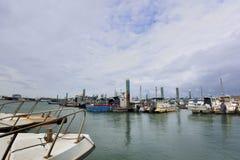 South Liao fishing port in the Hsinchu,Taiwan. Stock Photos