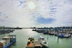 South Liao fishing port in the Hsinchu,Taiwan. Royalty Free Stock Photo