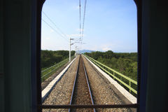 The south link line view of railway Royalty Free Stock Photography