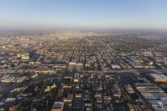 South Los Angeles Afternoon Aerial Royalty Free Stock Images