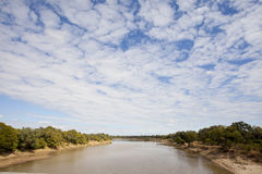 South Luangwa. Landscape view of the south luangwa river in Zambia Stock Images
