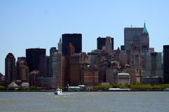 South manhattan skyline. From a boat Stock Image