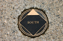 South marker. South navigation marker Royalty Free Stock Photos