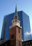 South Meeting House. Steeple in Boston stock image