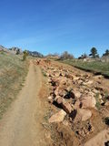 South Mesa Trailhead Colorado. More huge rocks appear along the trail Royalty Free Stock Image