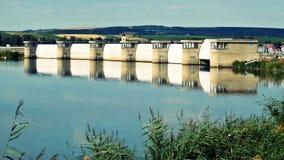 South moravia dam nove mlyny. Dam Nove Mlyny in south moravia, czech republic royalty free stock image
