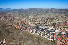 South Mountain from over Ahwatukee looking to the west Stock Photos