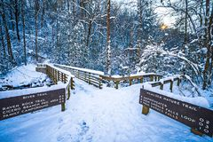 South mountain state park winter season Royalty Free Stock Images