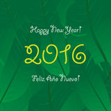 South version of New Year greeting card, vector design Stock Photo