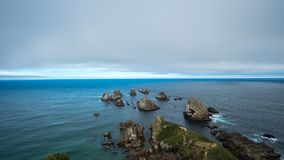 Postcard Worthy. South New Zealand, Nuggets of the Catlins Stock Image