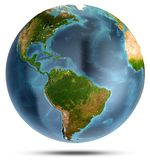 South and North America. 3d rendering. South and North America. Elements of this image furnished by NASA. 3d rendering stock photo