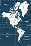South and North America high detailed vector political map Royalty Free Stock Photos